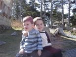 Riley and Caden at Mt. Mitchell