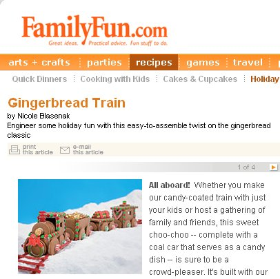 Gingerbread Train Project